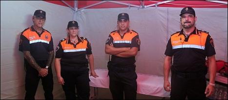 Voluntarios de Protección civil (Foto: J. Carrión)