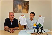 Eduardo Dolón y Tomás Ballester, en la rueda de prensa de auer (Foto: J. Carrión)