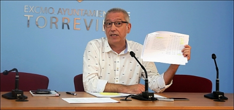 José Hurtado, concejal de hacienda (Foto: J. Carrión)