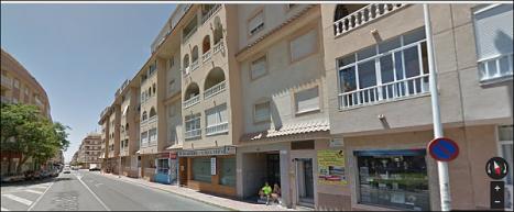 Zona de la calle Villa Madrid donde se produjo el incendio (Google map)