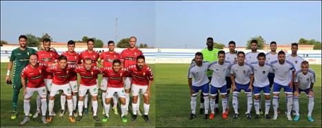 Formaciones de los equipos en Torrevieja (Fotos: J. Carrión)