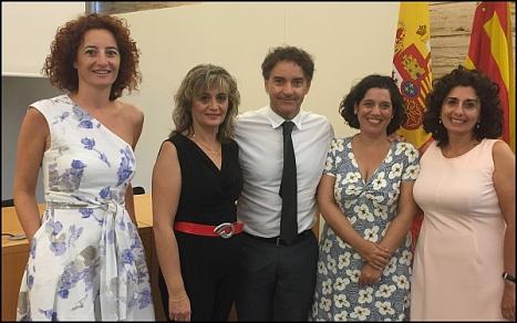 Foto:Lla edil de Turismo de Torrevieja, Pilar de la Horadada y Rojales, el Secretario Autonómico y la Directora General de Turismo Raquel Huete