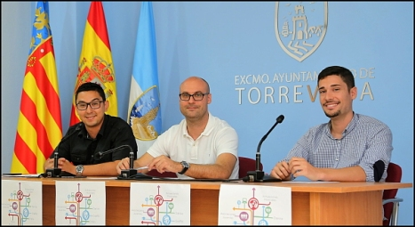 Gustavo García, Pablo Samper y Federico Gadea, ayer en la rueda de prensa de prensetación del Festival (Foto: J. Carrión)