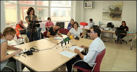 Luis María Pizana, ayer en la rueda de prensa (Foto: J. Carrión)