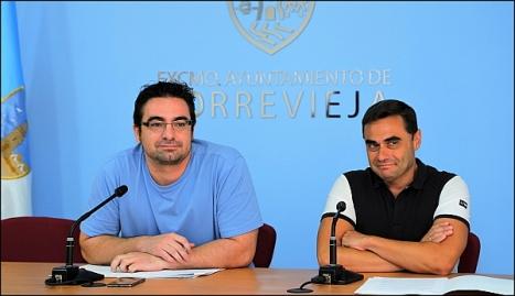 Ferrández y Carmona ayer en rueda de prensa (Foto: J. Carrion)