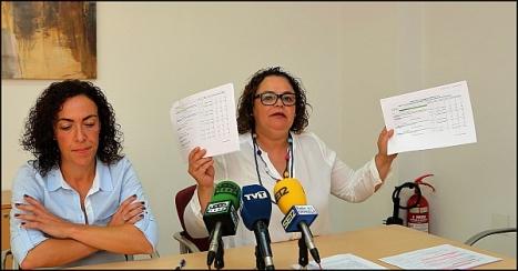 Carmen Gómez, en la rueda de prensa de ayer (Foto: J. Carrión)