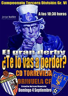Cartel promocional CD Torrevieja - Orihuela CF