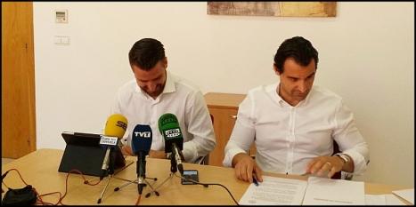 Eduardo Dolón y Miguel Cano en rueda de prensa