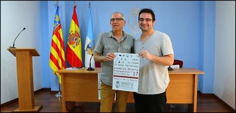 Los concejales Hurtado y Ferrández, ayer tras la rueda de prensa (Foto: J. Carrión)