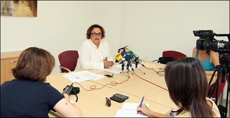 Carmen Gómez en rueda de prensa -Archivo- (Foto: J. Carrión)