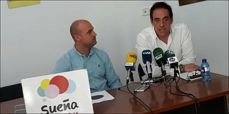 Pablo Samper y Alejandro Blanco ayer en la rueda de prensa