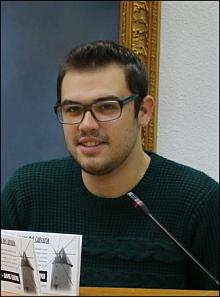 """Alfonso Guillén, presidente de la Hoguera """"Molinos del Calvaio"""""""