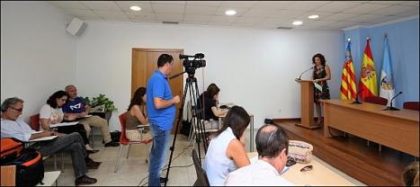 Fanny Serrano, ayer en la rueda de prensa (J. Carrión)