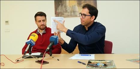 Miguel Cano y Luis María Pizana, ayer en la Rueda de Prensa (Foto: J. Carrión)