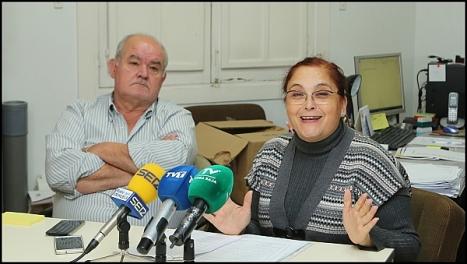 La presidenta de AA.SS., Concha Sala junto a Antonio Sánchez (Foto: J.Carrión)