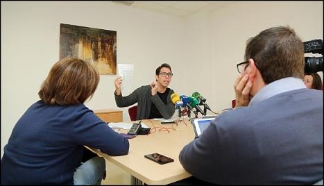 Luis María Pizana, ayer en Rueda de Prensa (Foto: J. Carrión)