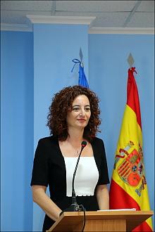 Fanny Serrano, ayer en Rueda de Prensa (Foto. J. Carrión)