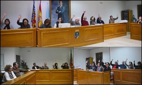 Varios momentos del Pleno de ayer
