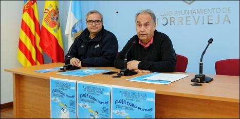 Carlos Torrado, gerente del RCNT y Domingo Pérez, concejl cultura en rueda de prensa ayer (Foto: J. Carrión)