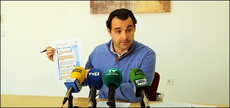 Eduardo Dolón, portavosz del G.M. del PP (Foto: J. Carrión)