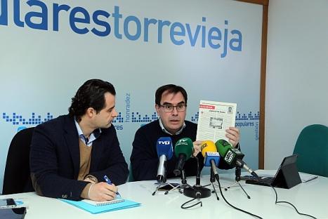 Eduardo Dolón y Joaquín Albaladejo. PP. (Foto Archivo de J. Carrión)