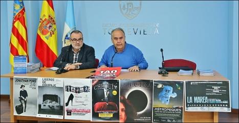 Momento de la rueda de prensa de presentación de la agenda cultura del primer trimestres (Foto: J. Carrión)