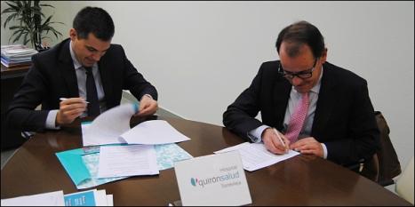 Momento de la firma entre QuiróSalud y Alicante Sur