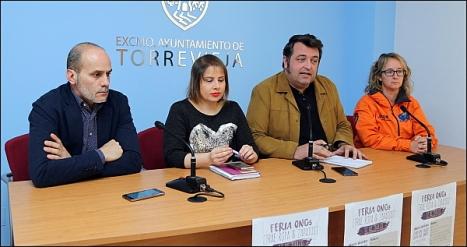 Concejales y responsables de Protección civil ayer ren rueda de prensa (Fptp: J. Carrión)