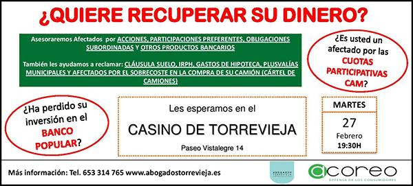 Abogados Torrevieja y ACOREO ofrecen esta tarde una charla ...